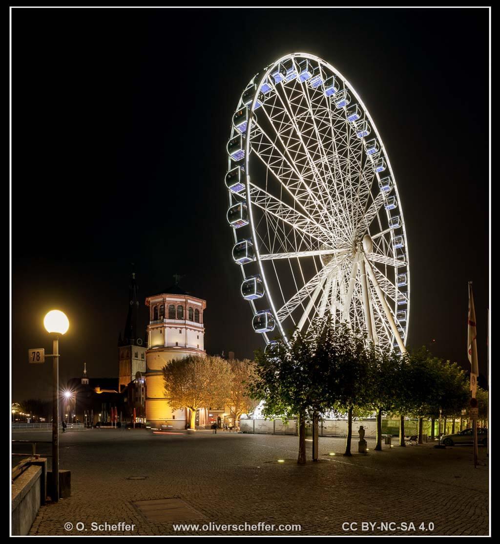 Riesenrad auf dem Burgplatz